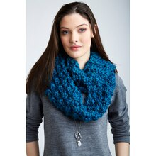 Patons® Cobbles™ Knot Stitch Infinity Knit Scarf, medium