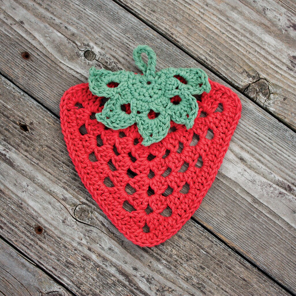 BernatR HandicrafterTM Cotton Its The Berries Crochet Dishcloth