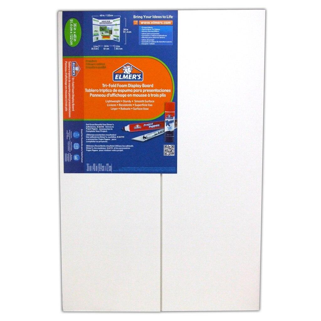 Elmer's® Foam Tri-Fold Display Board, White