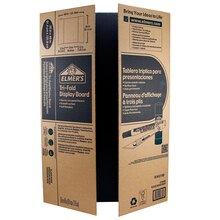 Elmer's Corrugated Tri-Fold Display Board, Black