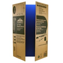 Elmer's Corrugated Tri-Fold Display Board, Blue