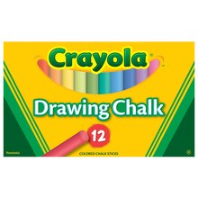 Crayola Colored Drawing Chalk, 12 Count