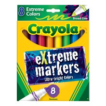 Crayola Broad Line Extreme Markers, 8 Count