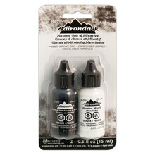 Tim Holtz Adirondack Alcohol Ink, Black and White