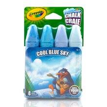 Crayola Sidewalk Chalk, Blues, 4 Count Cool Blue Sky