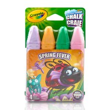 Crayola Assorted Sidewalk Chalk, Spring Colors, 4 Count Spring Fever