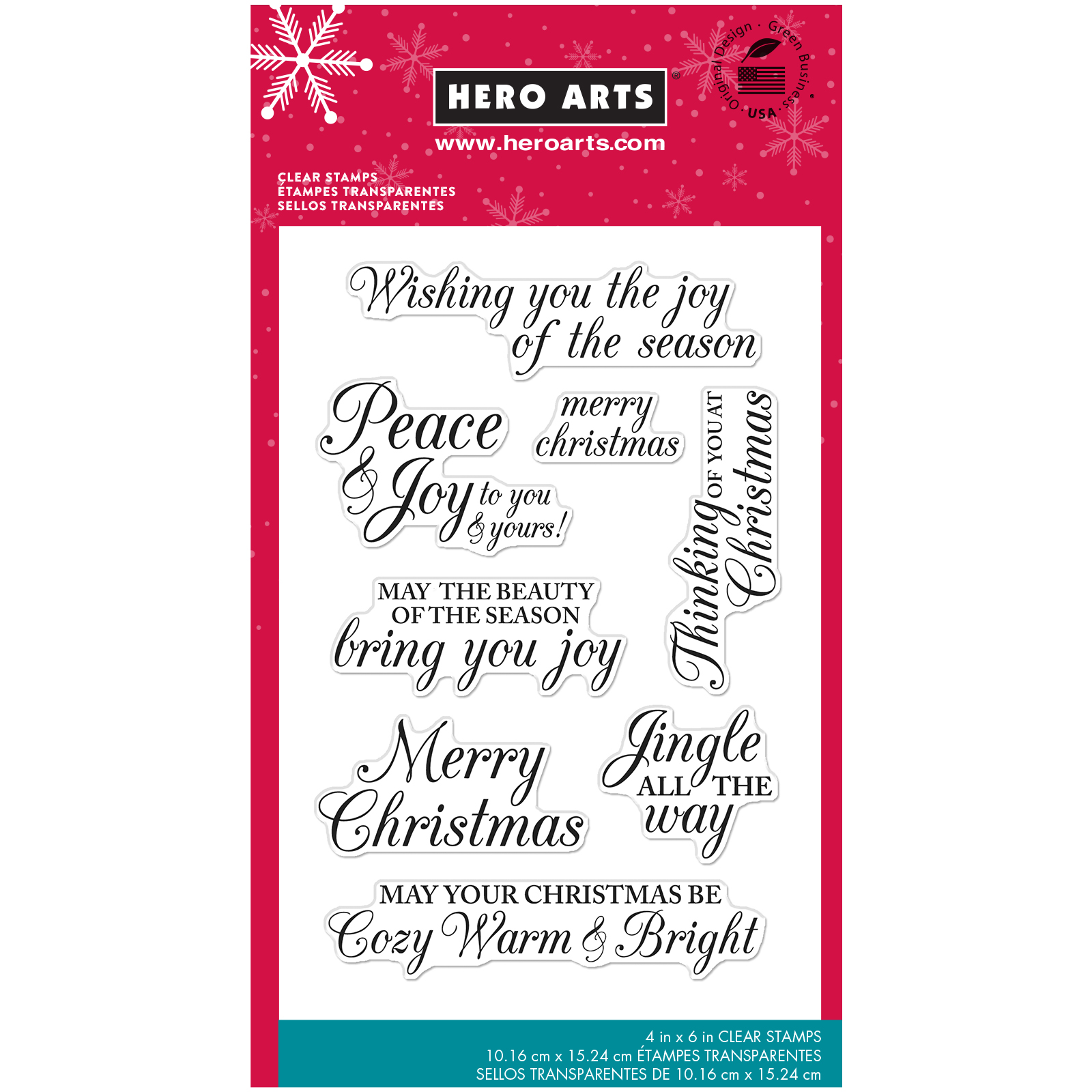 Hero Arts® Clear Stamps, Merry Christmas Messages