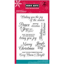Hero Arts Clear Stamps, Merry Christmas Messages