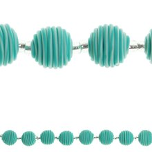 Bead Gallery Resin Round Beads, Aqua