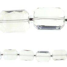 Bead Gallery Rectangular Faceted Glass Beads