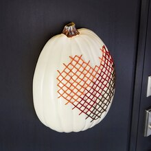 Cross-Stitch Half Pumpkin, medium