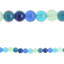 Bead Gallery Round Glass Beads, Sea Breeze