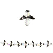 Bead Gallery Glass, Metal & Crystal Mini Angel Beads
