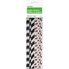 Football Paper Straws