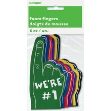 Mini #1 Foam Fingers, 6ct