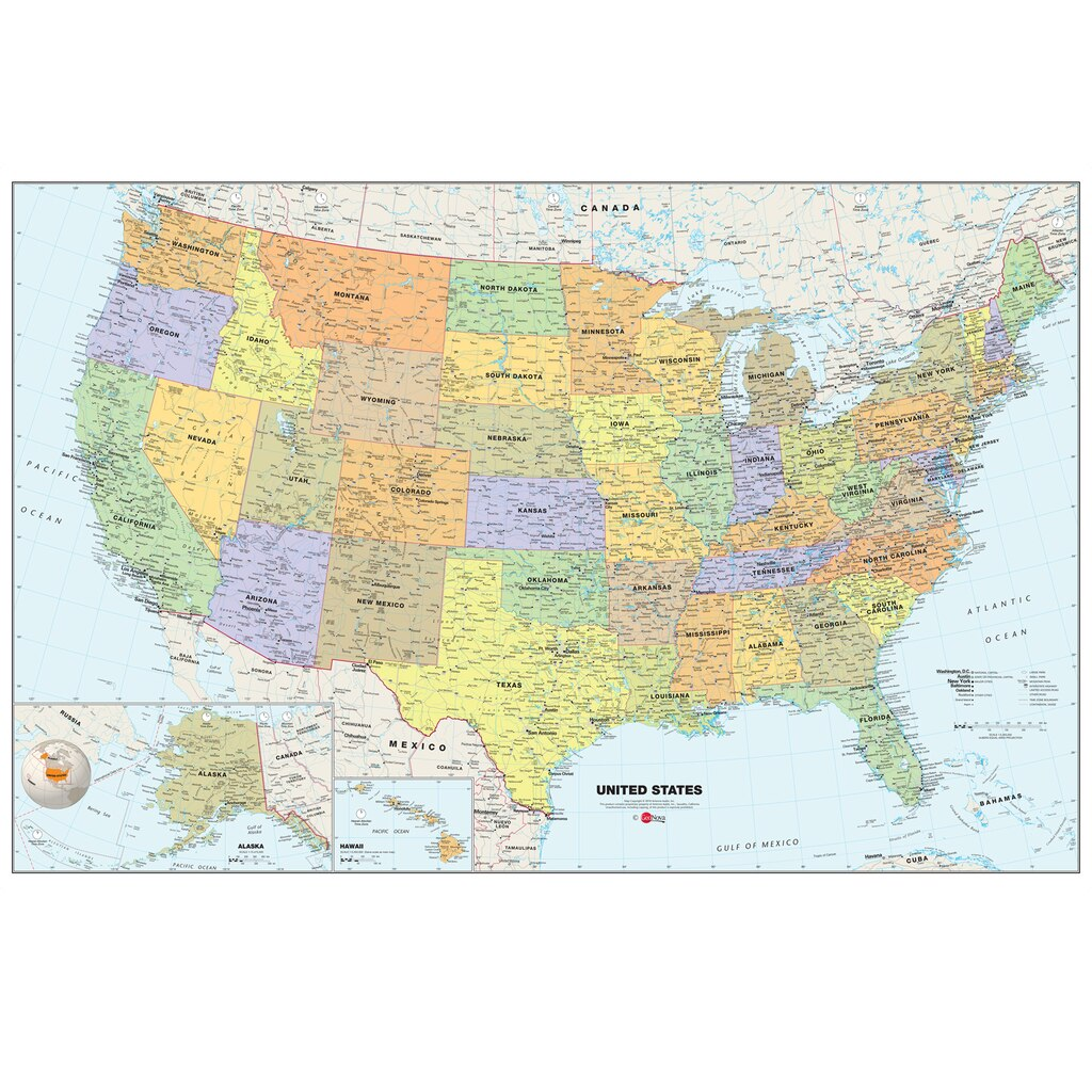 Buy The WallPops Map Of The USA At Michaels - North dakota map usa