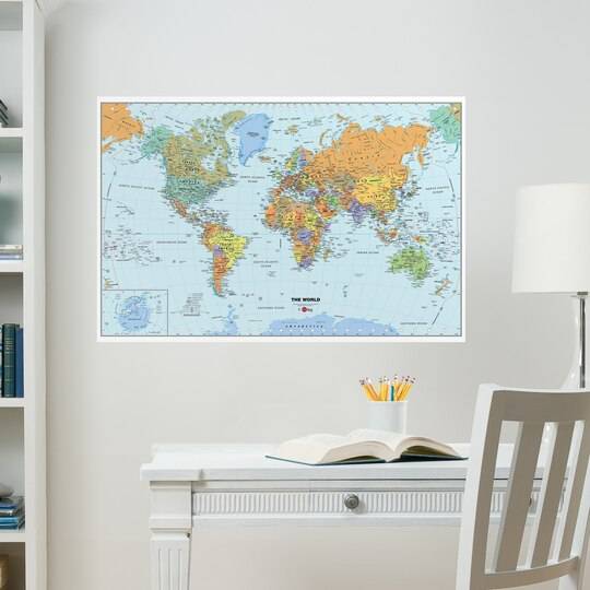 Shop for the wallpops world map at michaels wallpops world map world map wallpops gumiabroncs Images