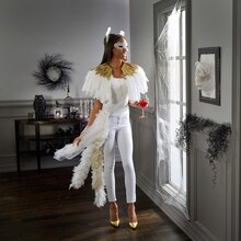 Gilded Feather Goddess Costume, medium