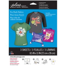 Jolee's Boutique Easy Image Transfer Paper, Glow In The Dark for Dark Fabrics