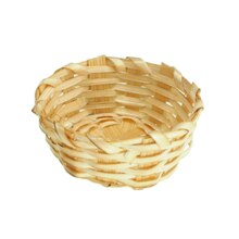 Sparrow Innovations Miniatures Straw Round Basket