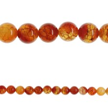 Bead Gallery Round Beads, Fire Agate Dyed Amber