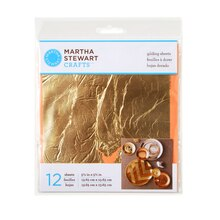 Martha Stewart Crafts Decoupage Gilding Sheets, Gold