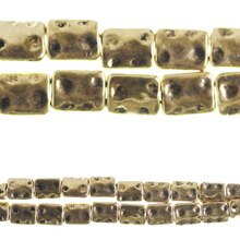 Bead Gallery Gold-Plated Flat Rectangle Beads