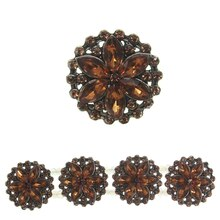 Bead Gallery Large Flower Slider, Amber