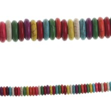 Bead Gallery Large Howlite Rondelle Stone Beads