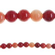 Bead Gallery Dyed Agate Stone Beads, Red Mix