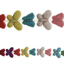 Bead Gallery Reconstituted Dyed Butterfly Beads