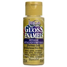 Americana Gloss Enamels Paint, 2 oz. Glorious Gold