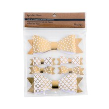 Recollections Craft It Dots & Quatrefoil Paper Bows, Gold