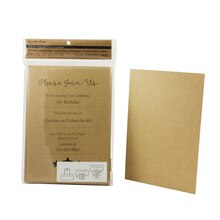Recollections Craft It Printable Flat Cards & Envelopes, Kraft