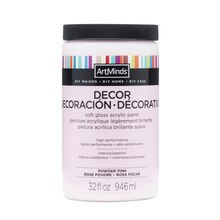 DIY Home Décor Acrylic Paint by ArtMinds, Powder Pink