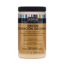 DIY Home Décor Acrylic Metallic Paint by ArtMinds, 32oz., Gold