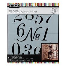 DIY Home Numerals Wall Stencil by ArtMinds