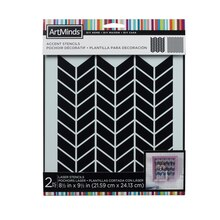 DIY Home Herringbone Accent Stencils by ArtMinds