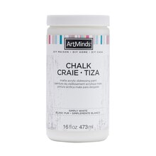DIY Home Chalk Distressing Paint by ArtMinds, 16oz. Simply White