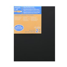 "Artist's Loft Necessities Black Canvas Value Pack, 9"" x 12"""
