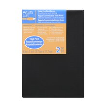 "Artist's Loft Necessities Black Canvas Value Pack, 5"" x 7"""
