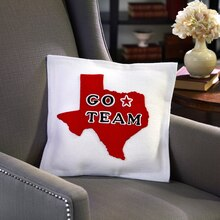 "Texas ""Go Team"" No-Sew Pillow, medium"