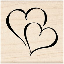 Inkadinkado Wood Stamp, Hearts