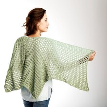 Loops & Threads® Cotton'n Linen™ Net Results Knit Shawl, medium