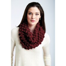 Loops and Threads® Impeccable™ Maximum Texture Crochet Cowl, medium