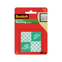 "3M Scotch Permanent Mounting Squares, 1"" x 1"""