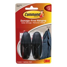 3M Command Designer Hooks, Medium, Black