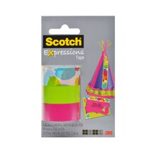 3M Scotch Expressions Magic Tape, Watercolor, Pink, Green