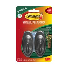 3M Command Outdoor Terrace Hooks with Foam Strips