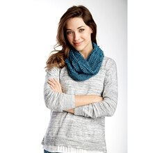 Patons® Metallic™ Drapey Crochet Cowl, medium